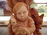 Esculturas en madera en la ciudad
