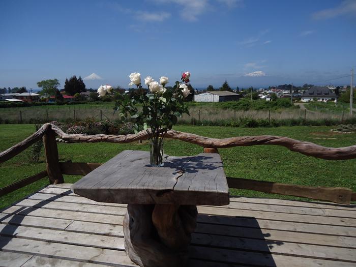 vista desde la terraza de la cabaña